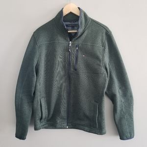Tommy Hilfiger full zip green jacket